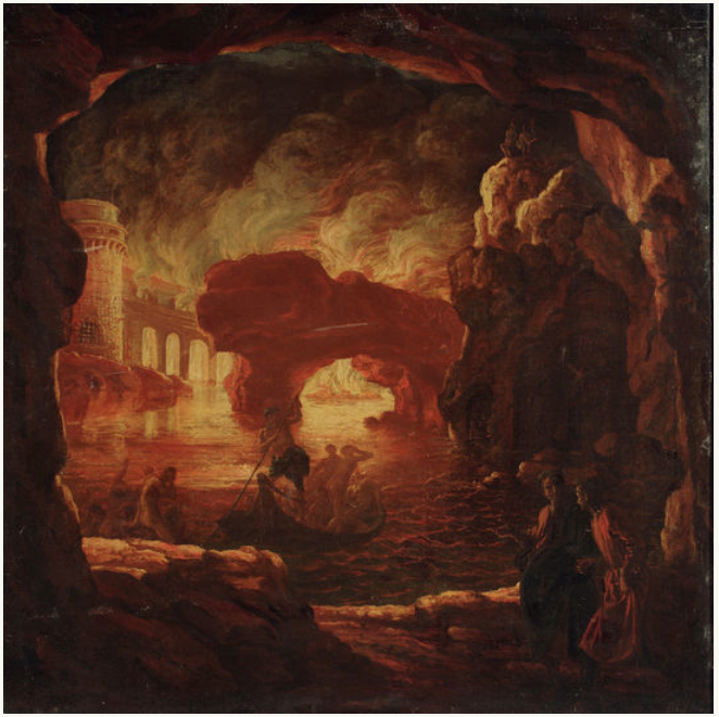 All clear, Dante and virgil in hell