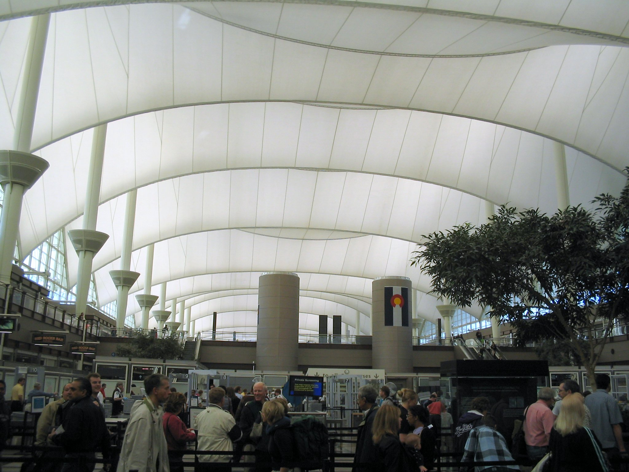 Lovely File:Denver International Airport, From Security Line