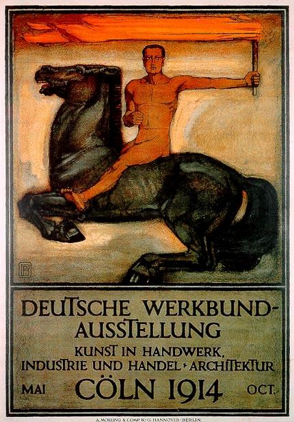 Deutsche Werkbund-Ausstellung Kunst in Handwerk, Industrie und Handel Architektur K%C3%B6ln 1914 Oct. Peter Behrens A. Molling %26 Comp. KG Hannover Berlin.jpg