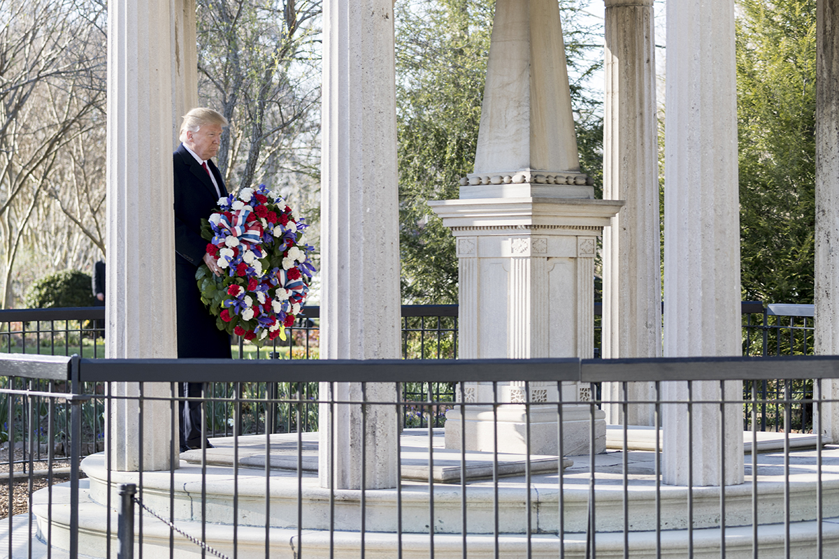 Image result for trump andrew jackson tomb