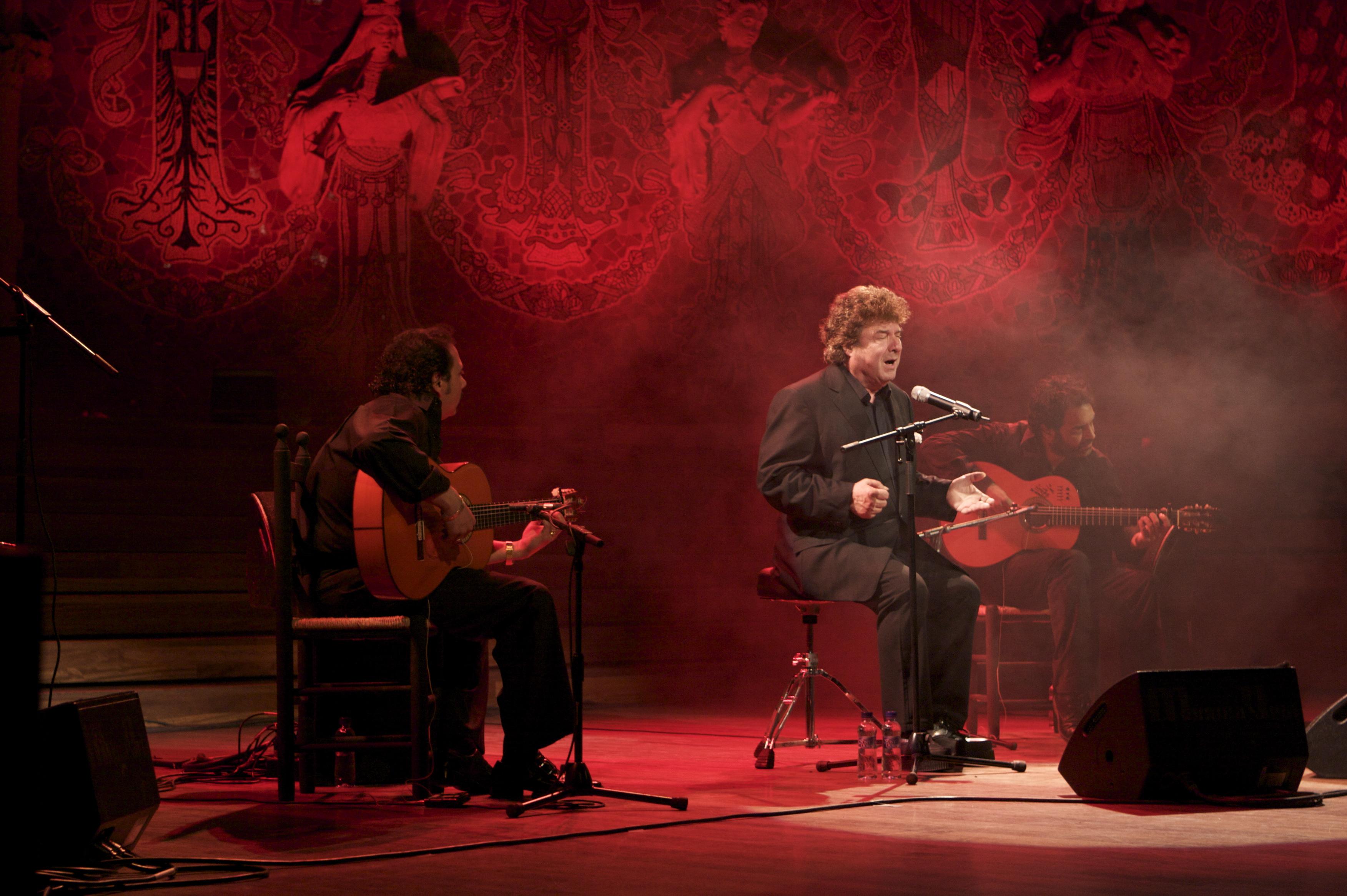 Enrique Morente en el Palau de la Música Catalana el 13 de marzo de 2009.