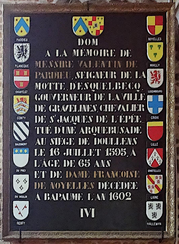 File:Esquelbecq Eglise Saint Folquin Deo optimo maximo du seigneur de la Motte Valentin de Pardieu.jpg - Wikimedia Commons