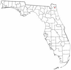 Location of cemetery in Florida