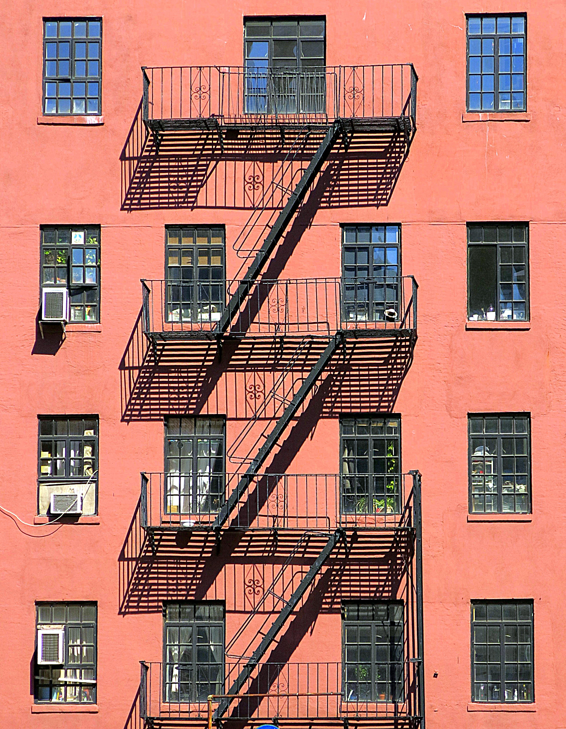 File Fire Escape West 10th Street Greenwich Village Nyc