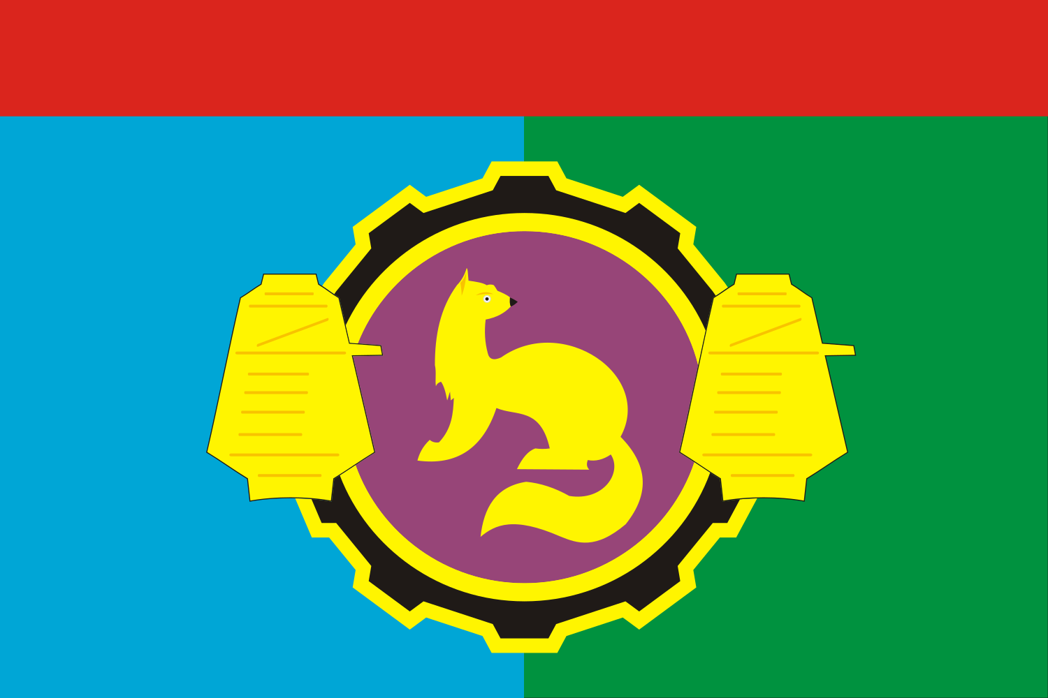 Flag of Pushkinsky rayon (Moscow oblast).png