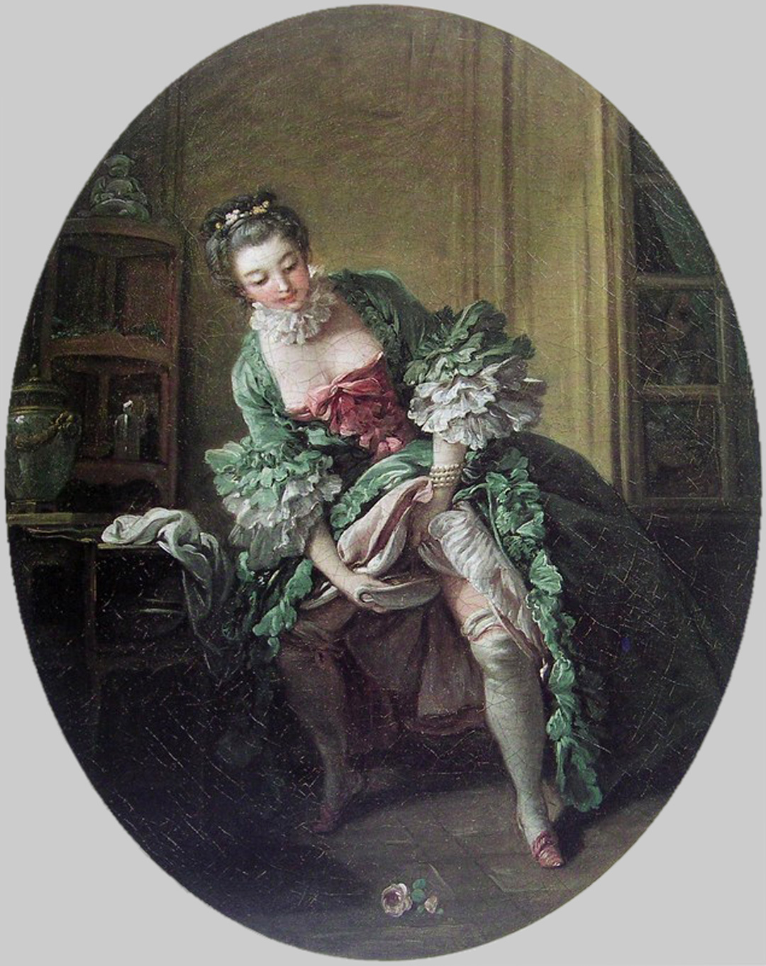 Women going to the bathroom standing up - 18th Century Woman Stands While Urinating Into Chamber Pot