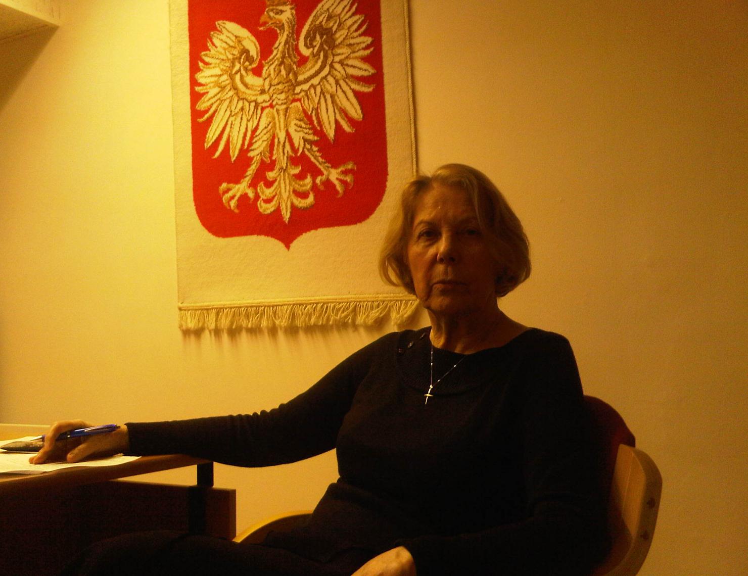 Prof. Halina                   Taborska - Chancellor for the Polish University                   Abroad