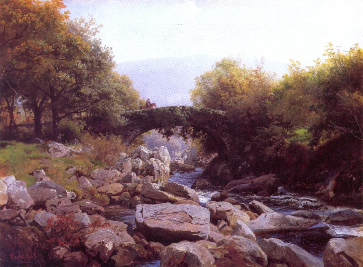 File:Hans Gude--Efoybroen, Nord-Wales--1863.jpg ...