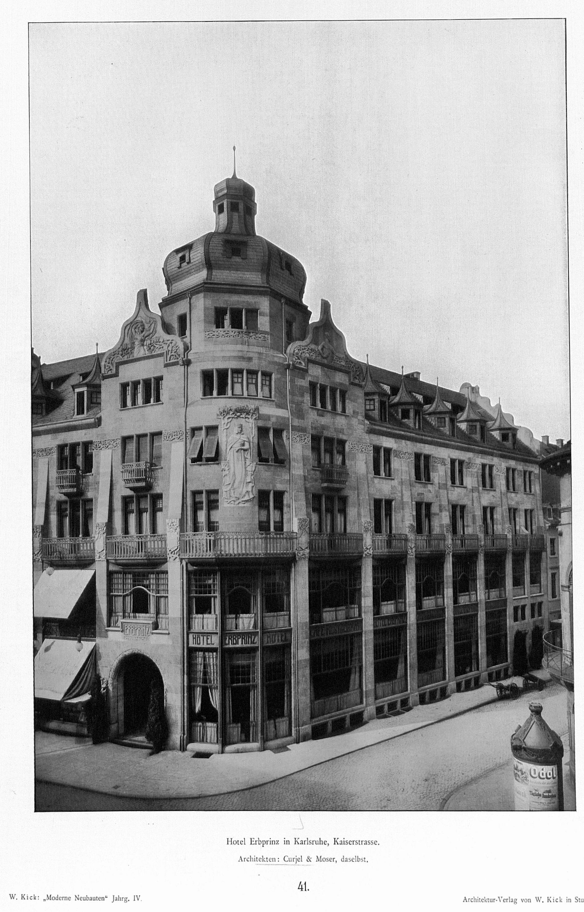 Architekten Karlsruhe file hotel erbprinz in karlsruhe kaiserstrasse architekten curjel