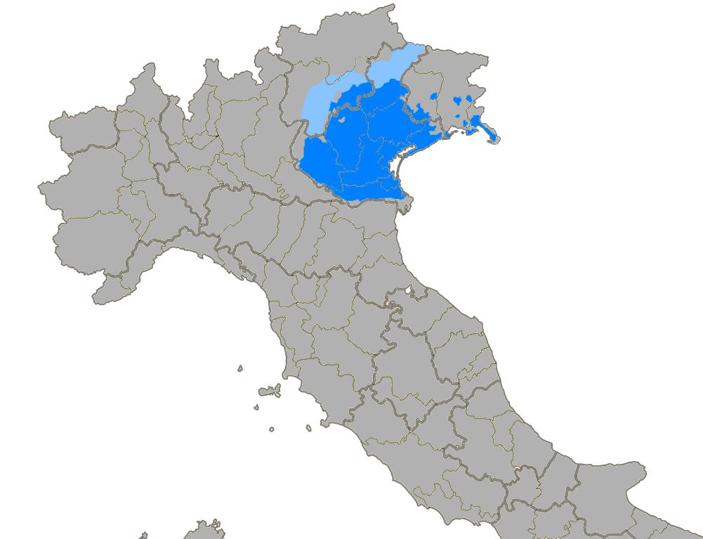 Litorale Veneto Cartina.Lingua Veneta Wikipedia