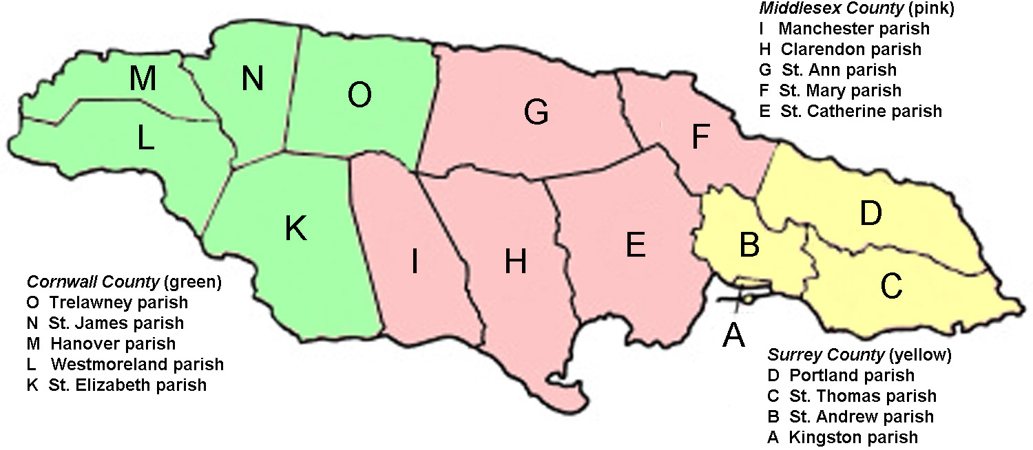 File:Jamaica--counties and civil districts.jpg - Wikimedia Commons