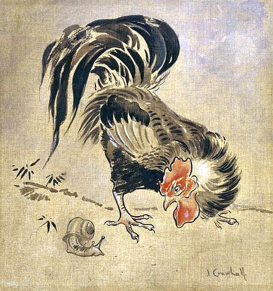 Joseph Crawhall - Spanish Cock And Snail.jpg