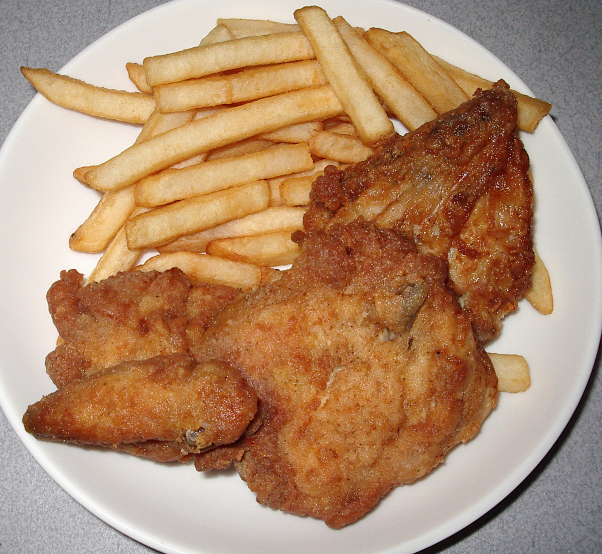chicken  french fries