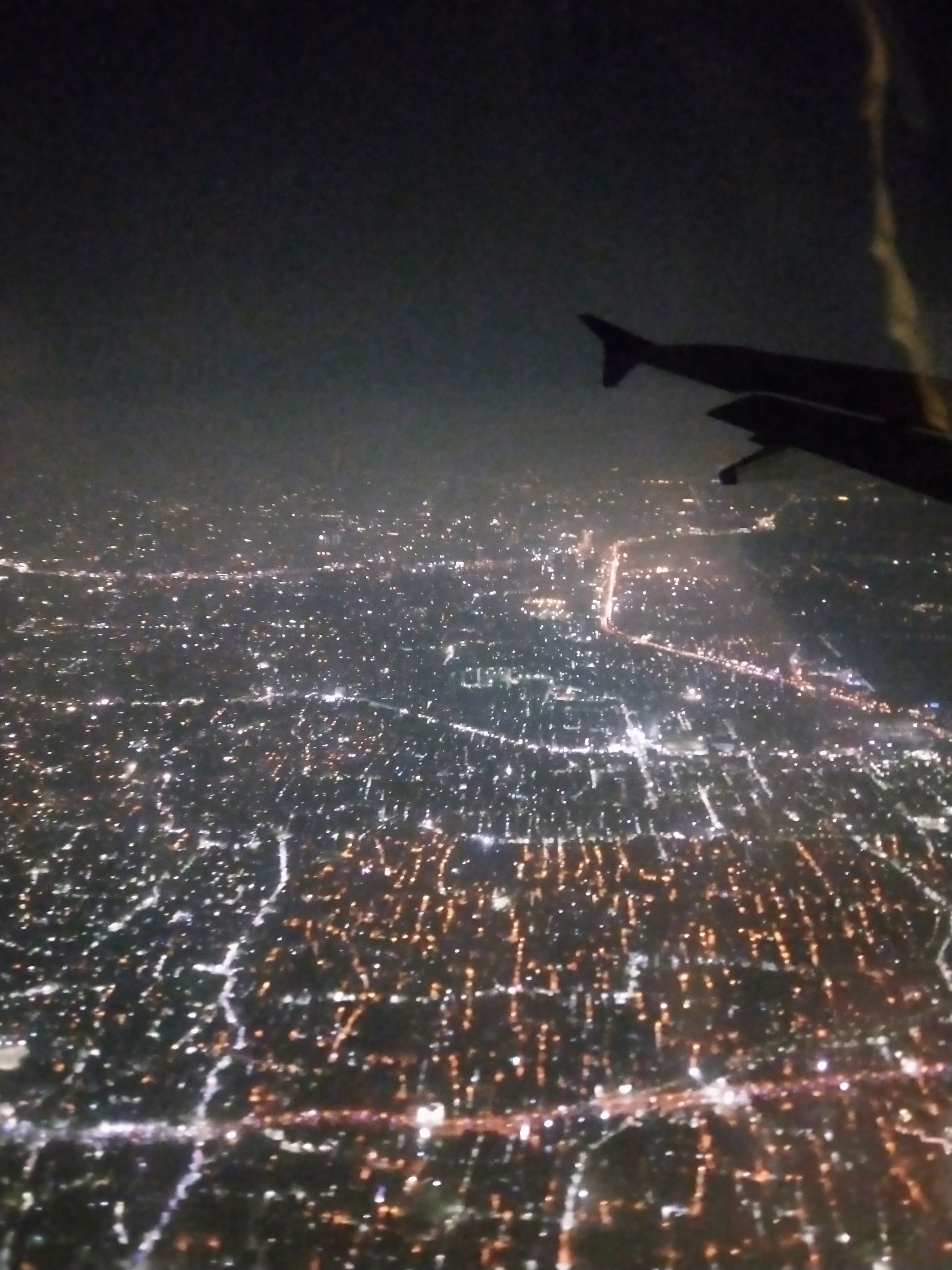 File Kolkata Outside View From Airplane Window At Night Jpg