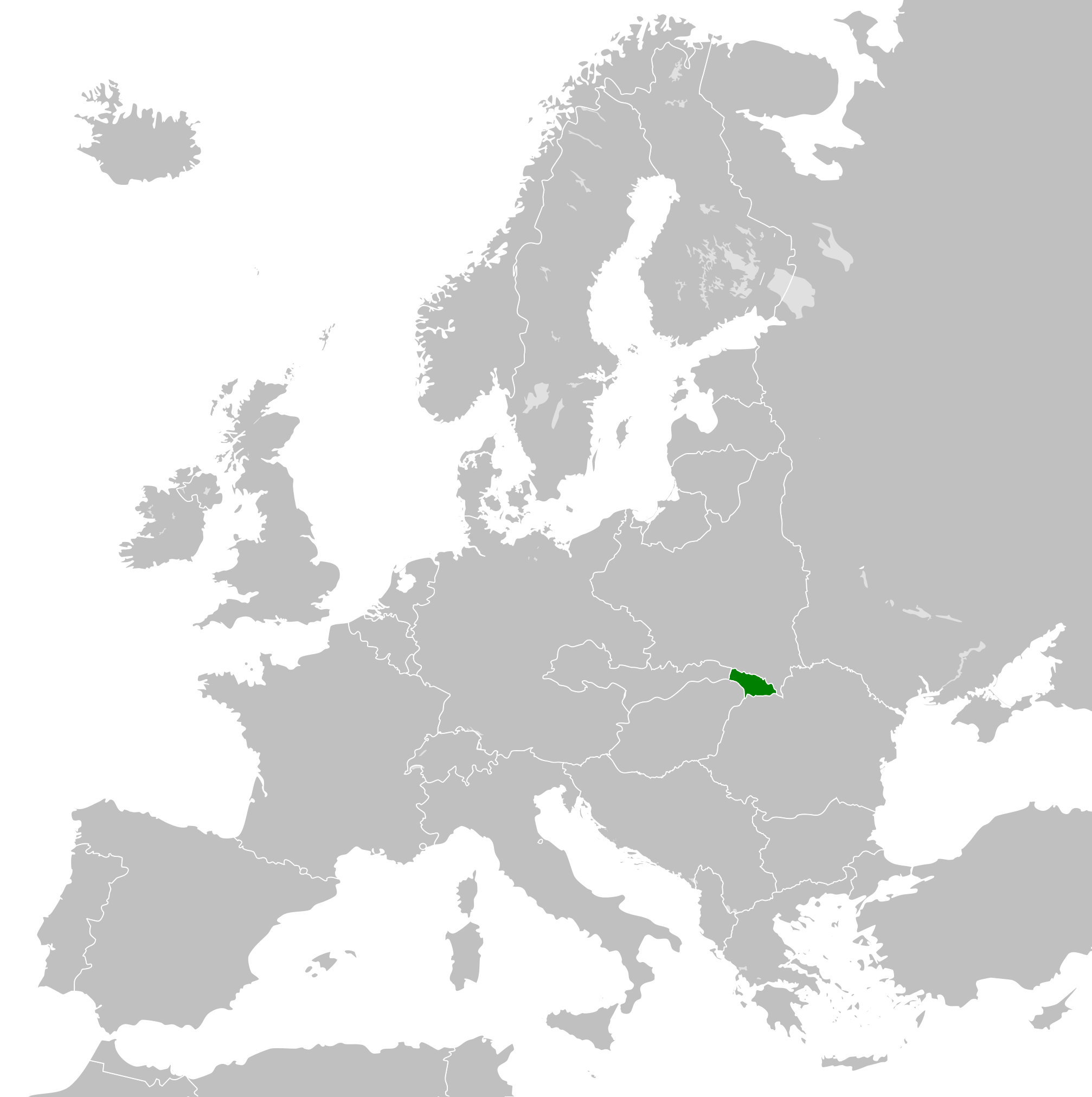 File:Location map of the Republic of Carpatho-Ukraine in Europe in ...
