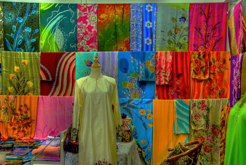 Malaysian Batik shop