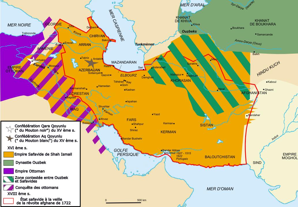 Reich der Safawiden und Gebietsverluste