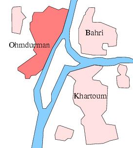 ハルトゥーム大都市圏概略図