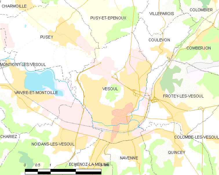 Unit urbaine de vesoul wikip dia for Code postal de vesoul