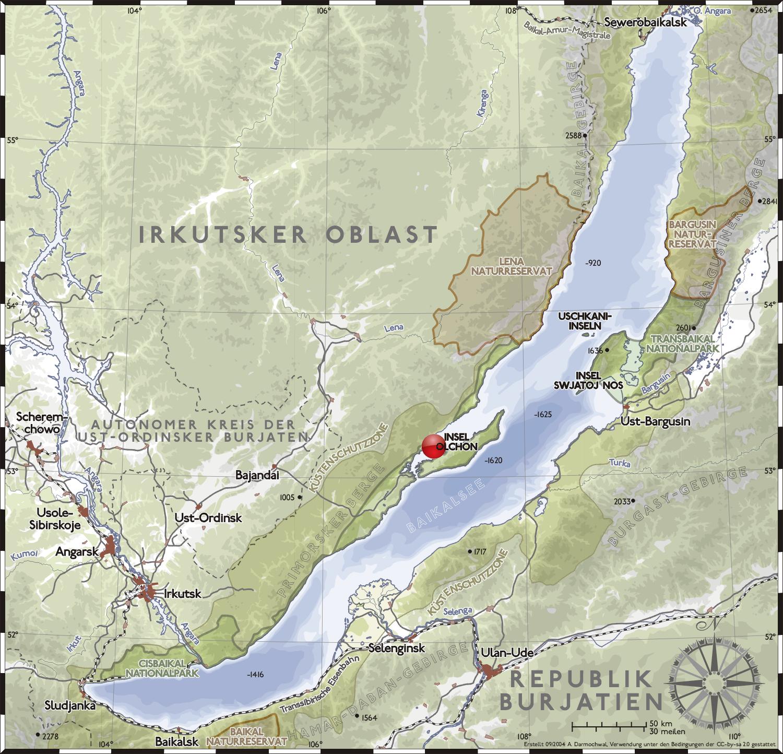 lake baikal on map Maloe More Wikipedia lake baikal on map
