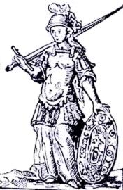 Antica stampa raffigurante Maria Puteolana