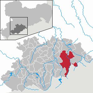 Marienberg Place in Saxony, Germany