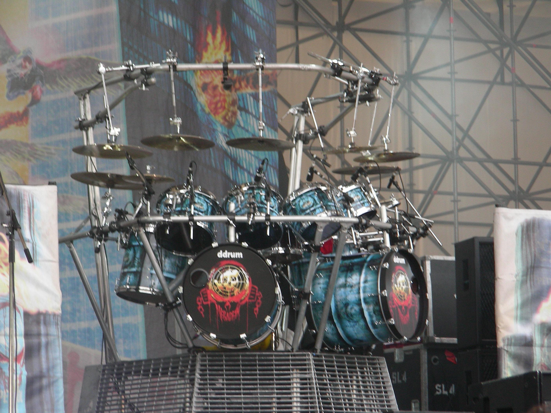 gibraltar drum rack setup