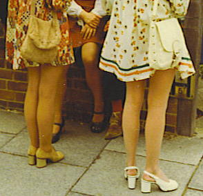 Mini-skirts at wedding - c1972.JPG