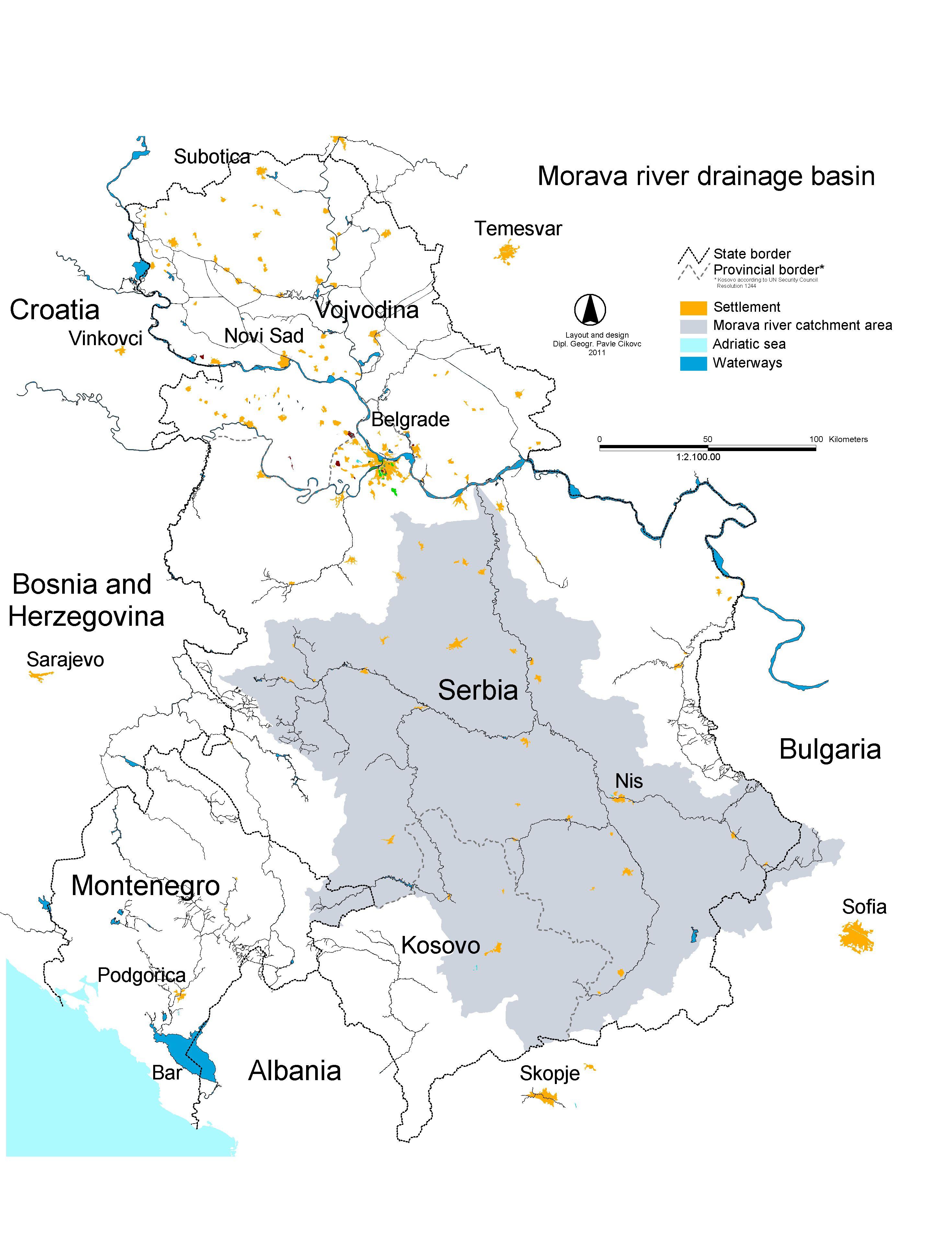File Morava River Drainage Basin Serbia Cikovac Jpg