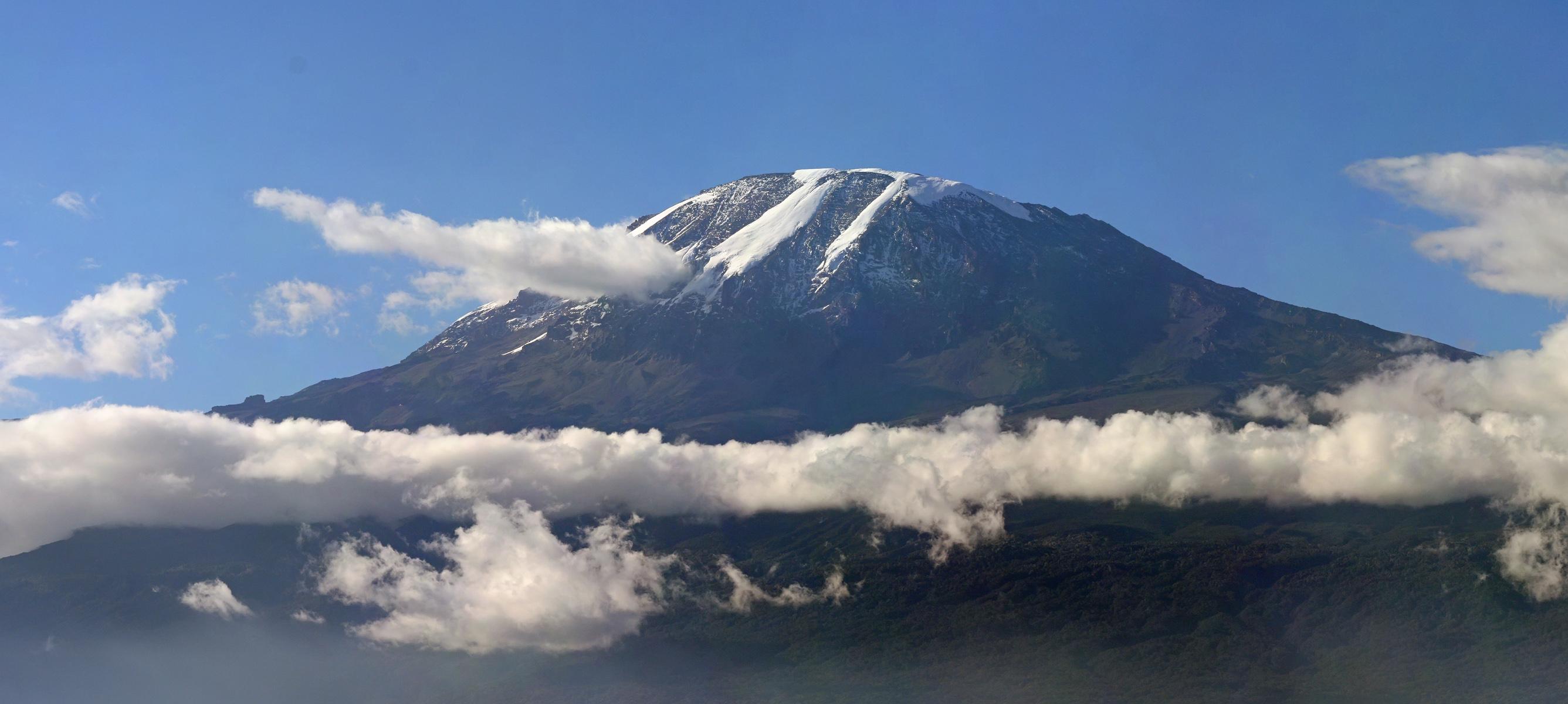 Afbeelding van de Kilimanjaro.