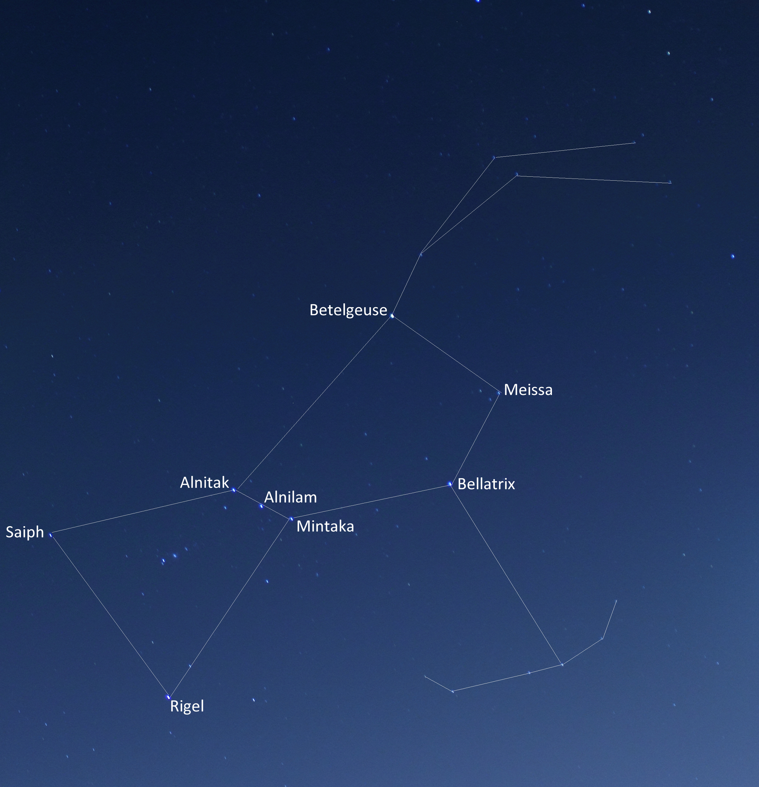 Northern Hemisphere Constellations November Constellation orion with the