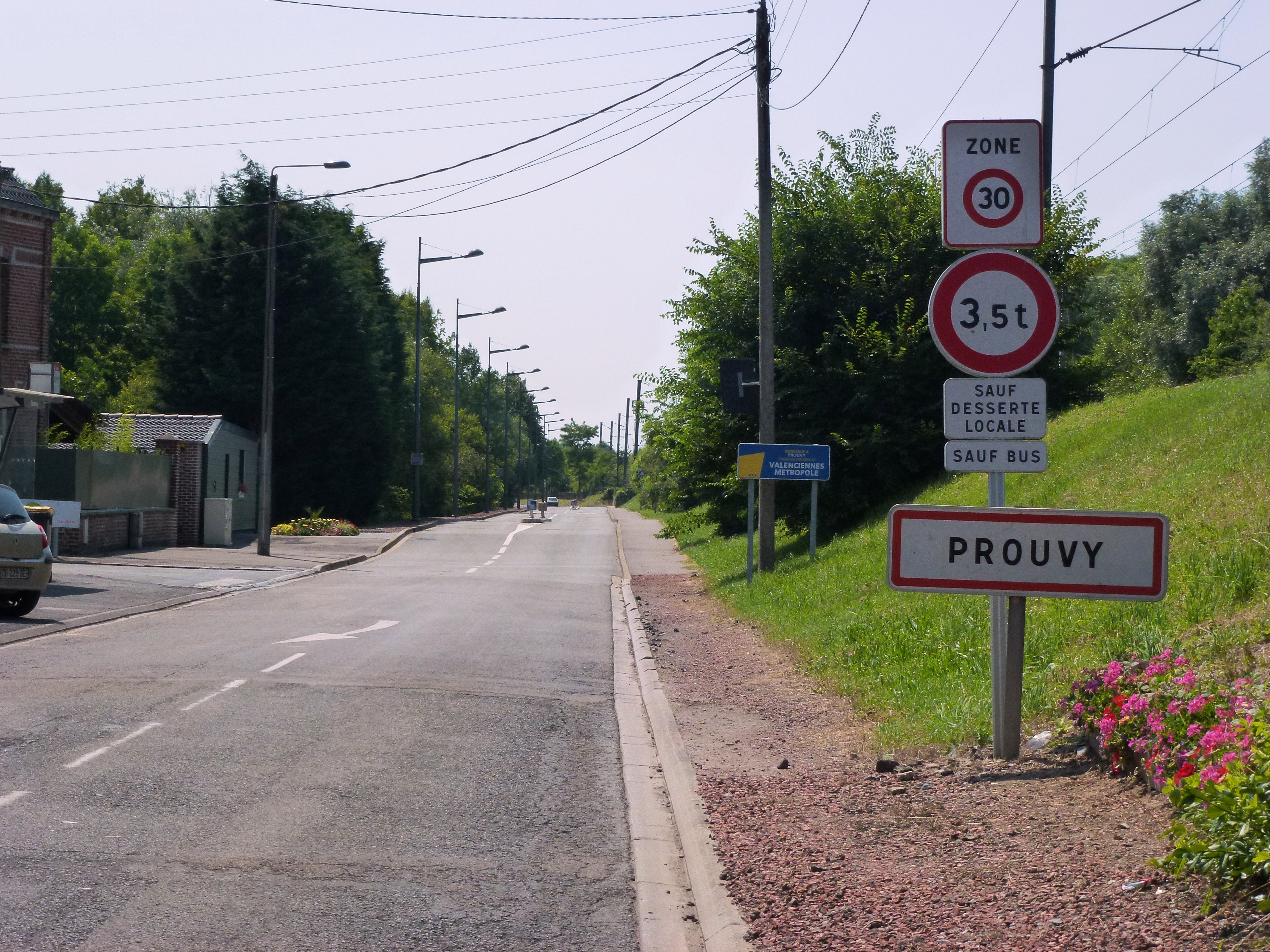 Fichier Prouvy Nord Fr City Limit Sign Jpg Wikipedia