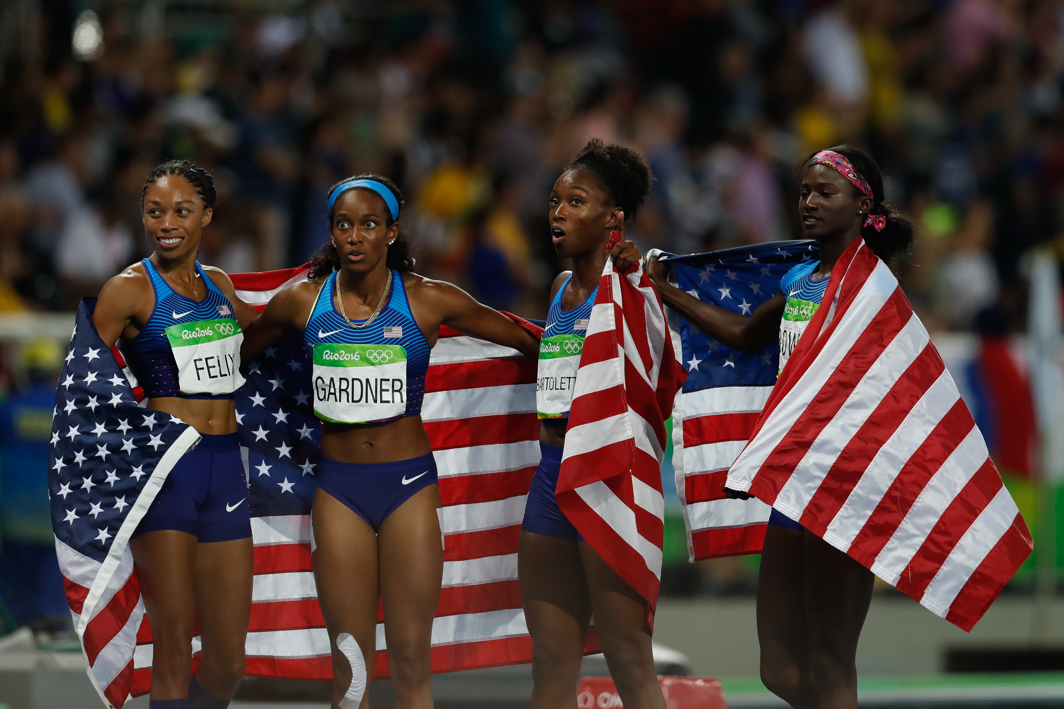 c5695dc283 Athletics at the 2016 Summer Olympics – Women s 4 × 100 metres relay -  Wikipedia