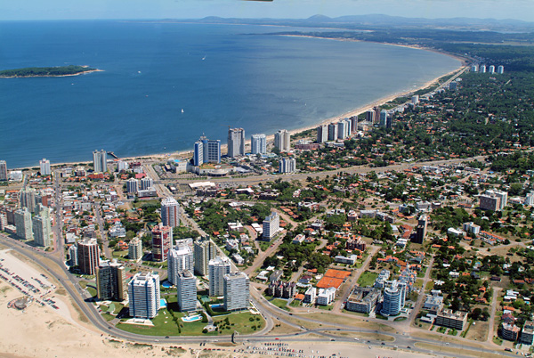 Punta del Este from above