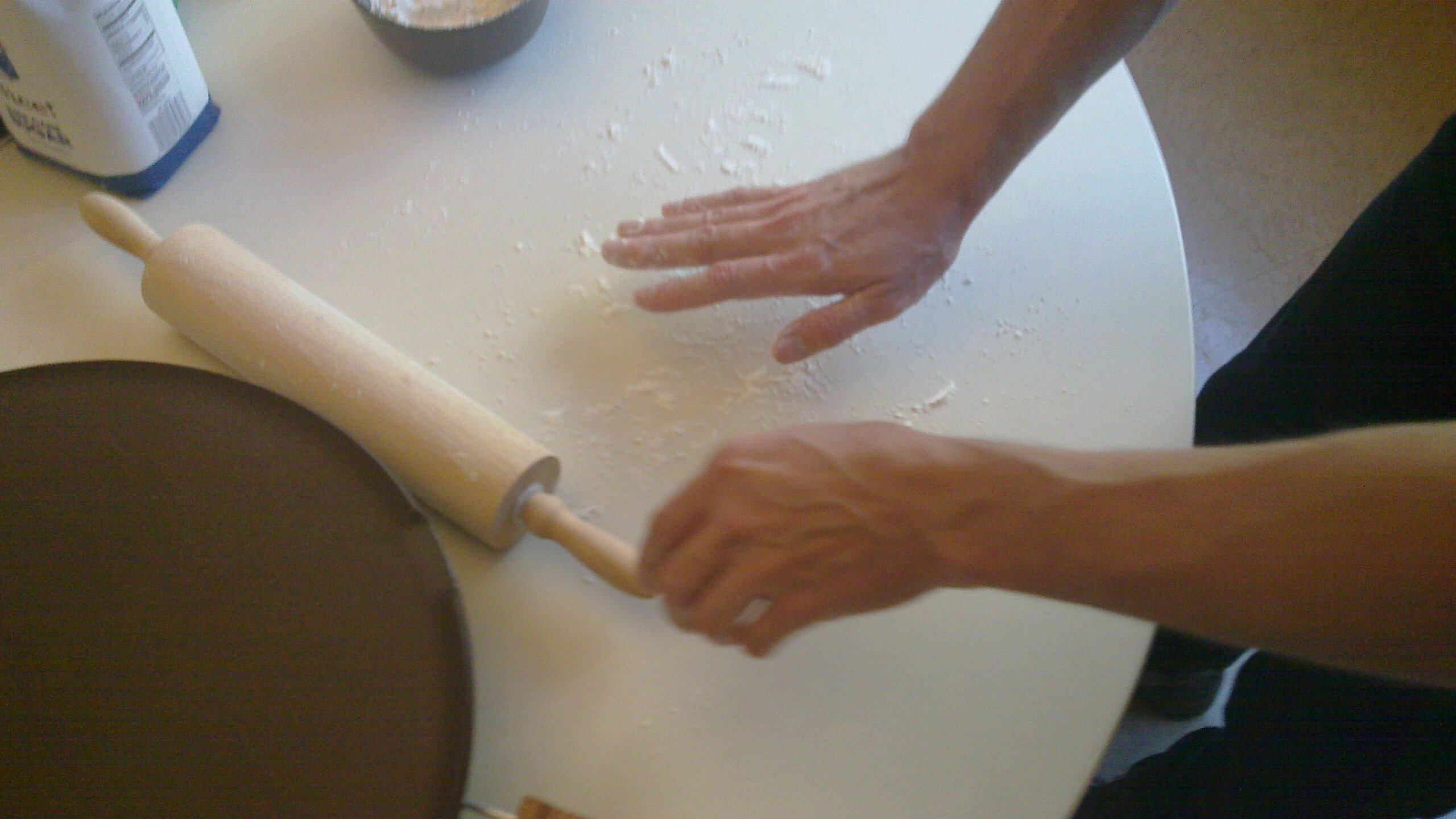 File Putting Down Flour On Lefse Rolling Surface Jpg Wikimedia Commons