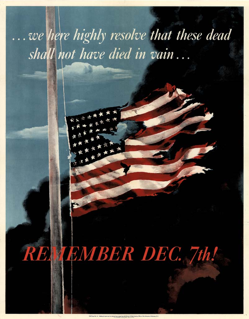 "Image result for ""Remember December 7th"" propaganda poster"