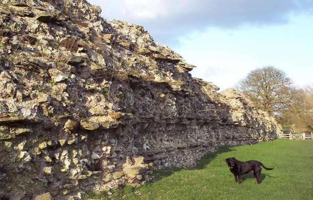 Roman Wall at Calleva Atrebatum - geograph.org.uk - 334373