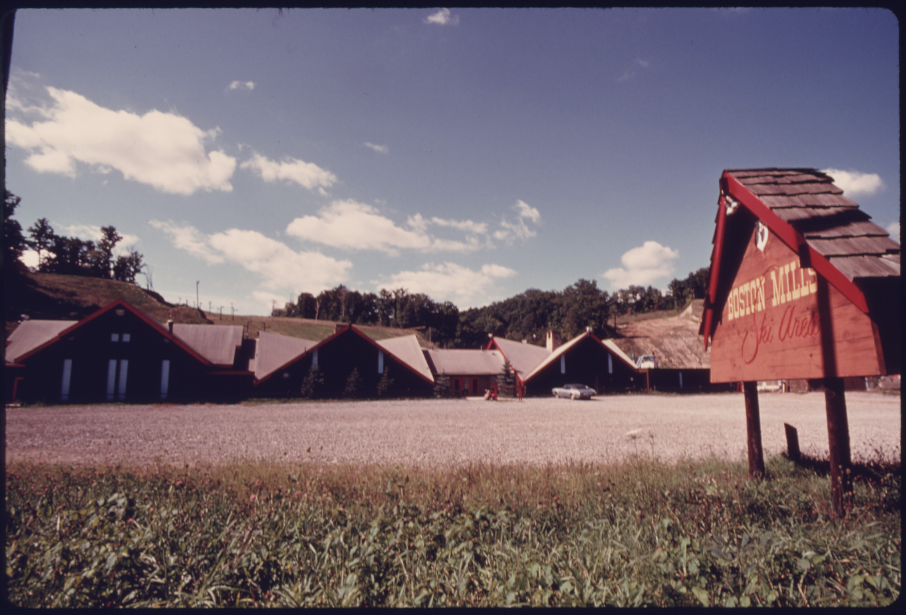 file ski lodge and slopes in the background in boston township at riverview road and boston