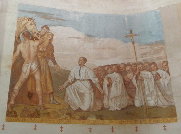 ROCIANTOUR ET LES ENVOYES D'ALETH IMPLORENT DE CHILDEBERT III LE CORPS DE SAINT MALO