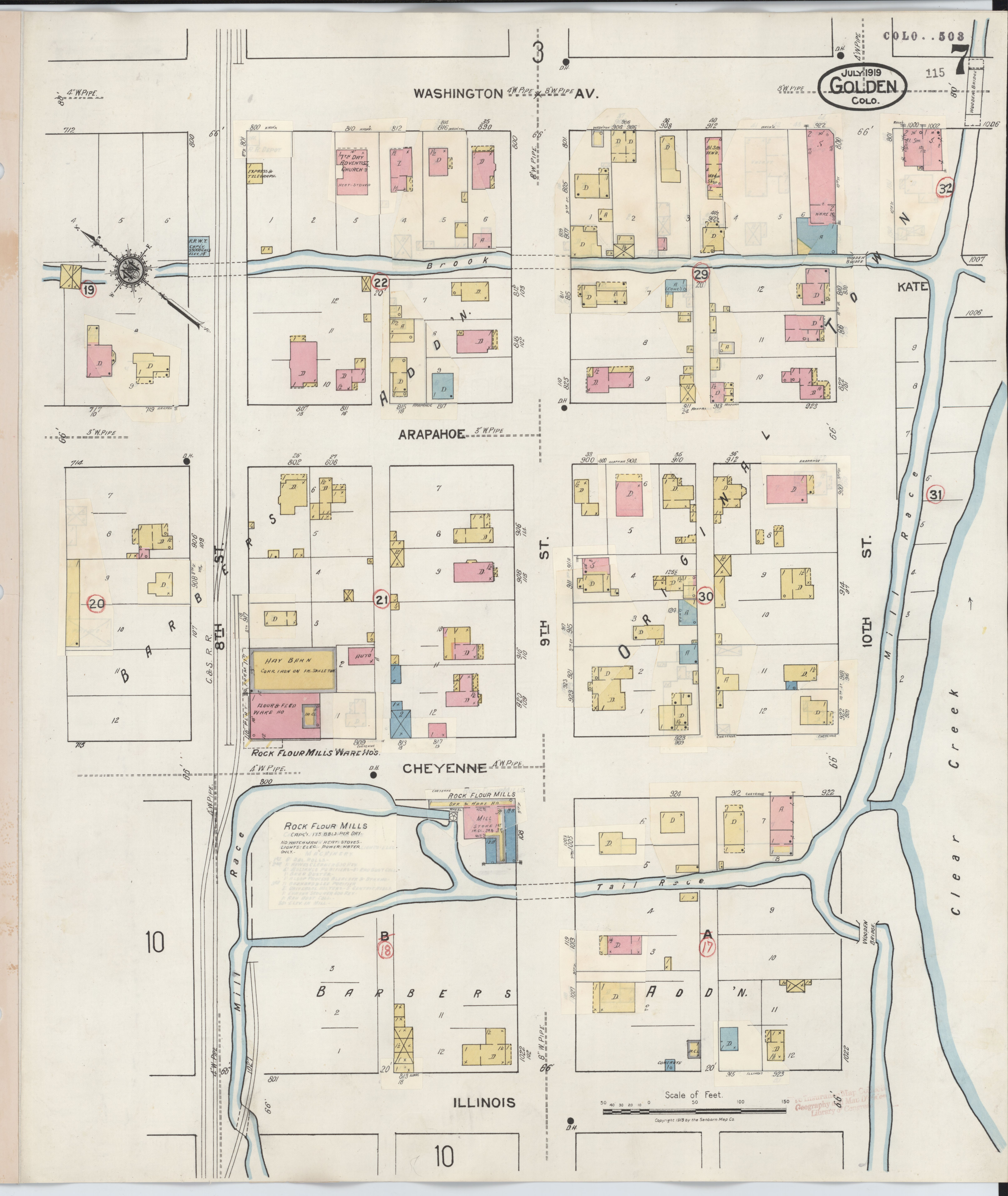 File:Sanborn Fire Insurance Map from Golden, Jefferson County ... on