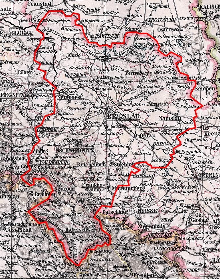 Schlesien Karte Heute.Jüdische Gemeinde Breslau Schlesien