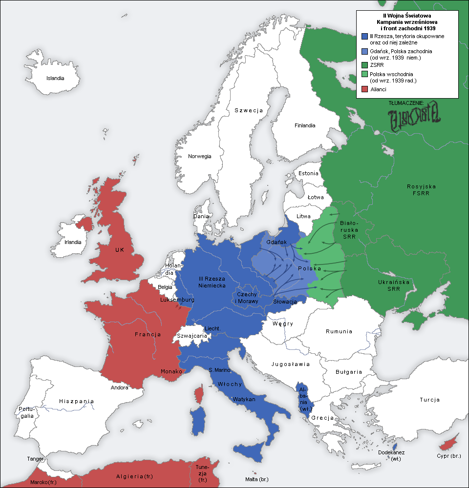 File:Second world war europe 1939 map pl.png - Wikimedia Commons