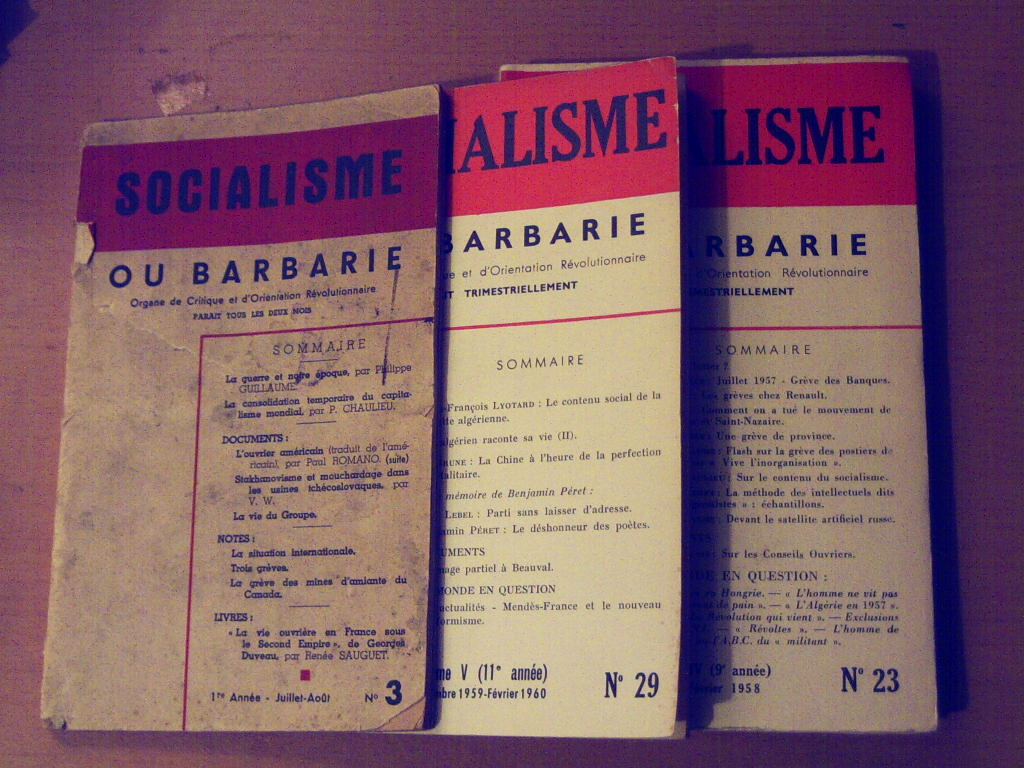 Socialisme ou barbarie, revista francesa quase contemporânea de Vanguarda Socialista