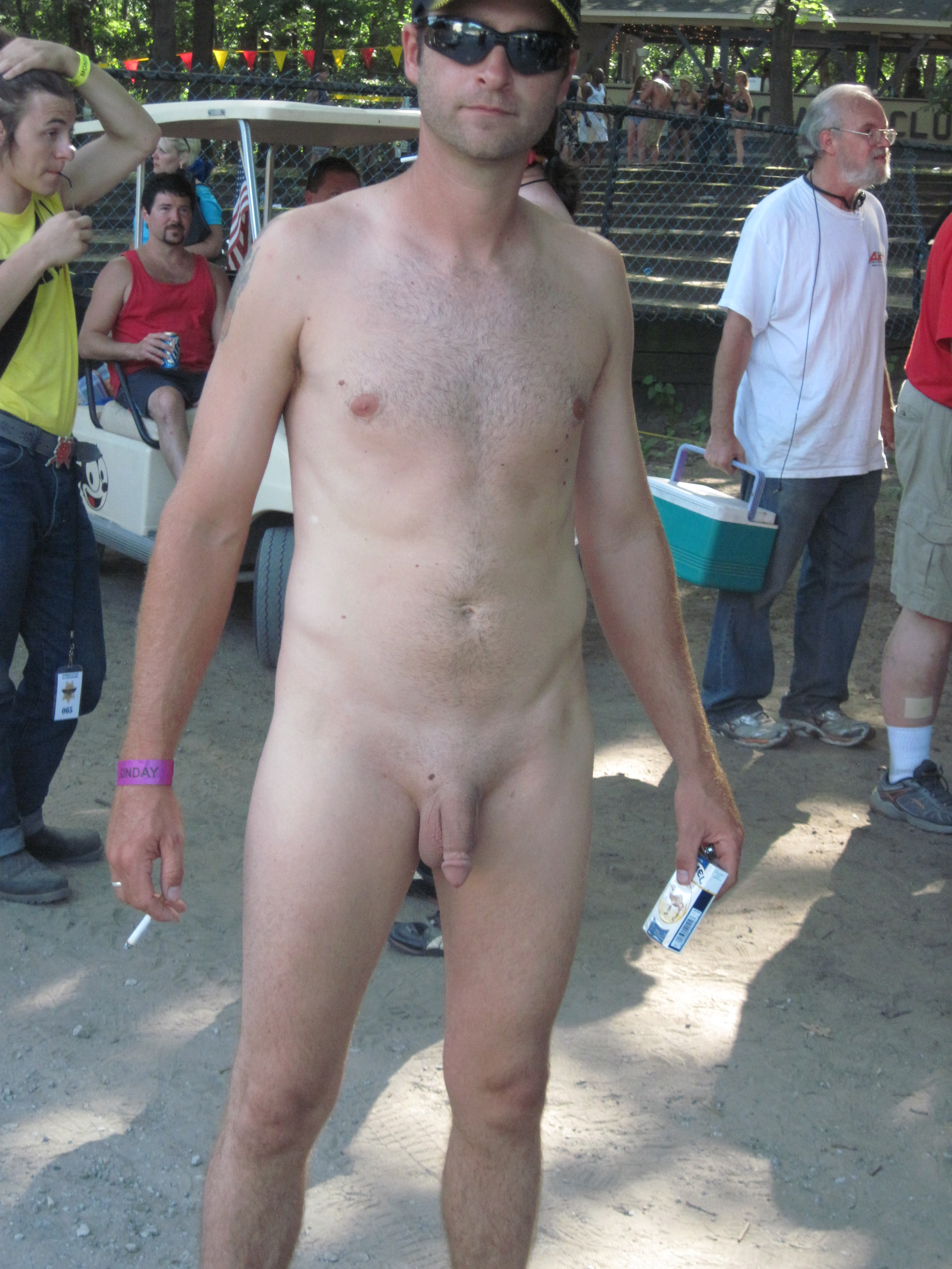 from Kyle standing nude shaved men