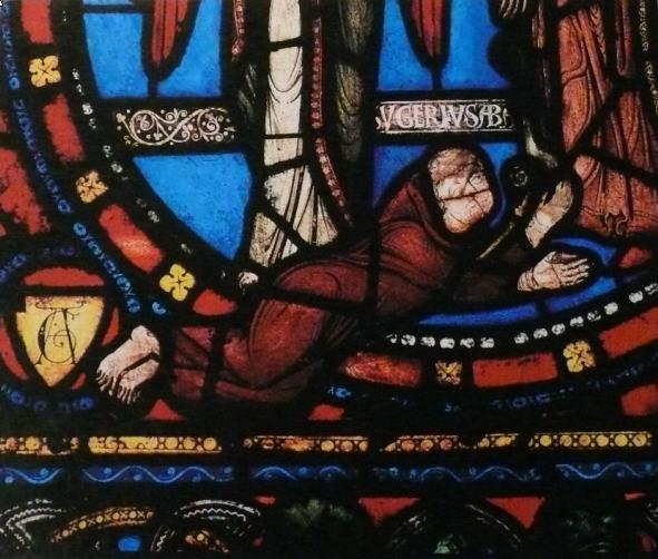 Suger d'après un vitrail de la basilique de Saint-Denis