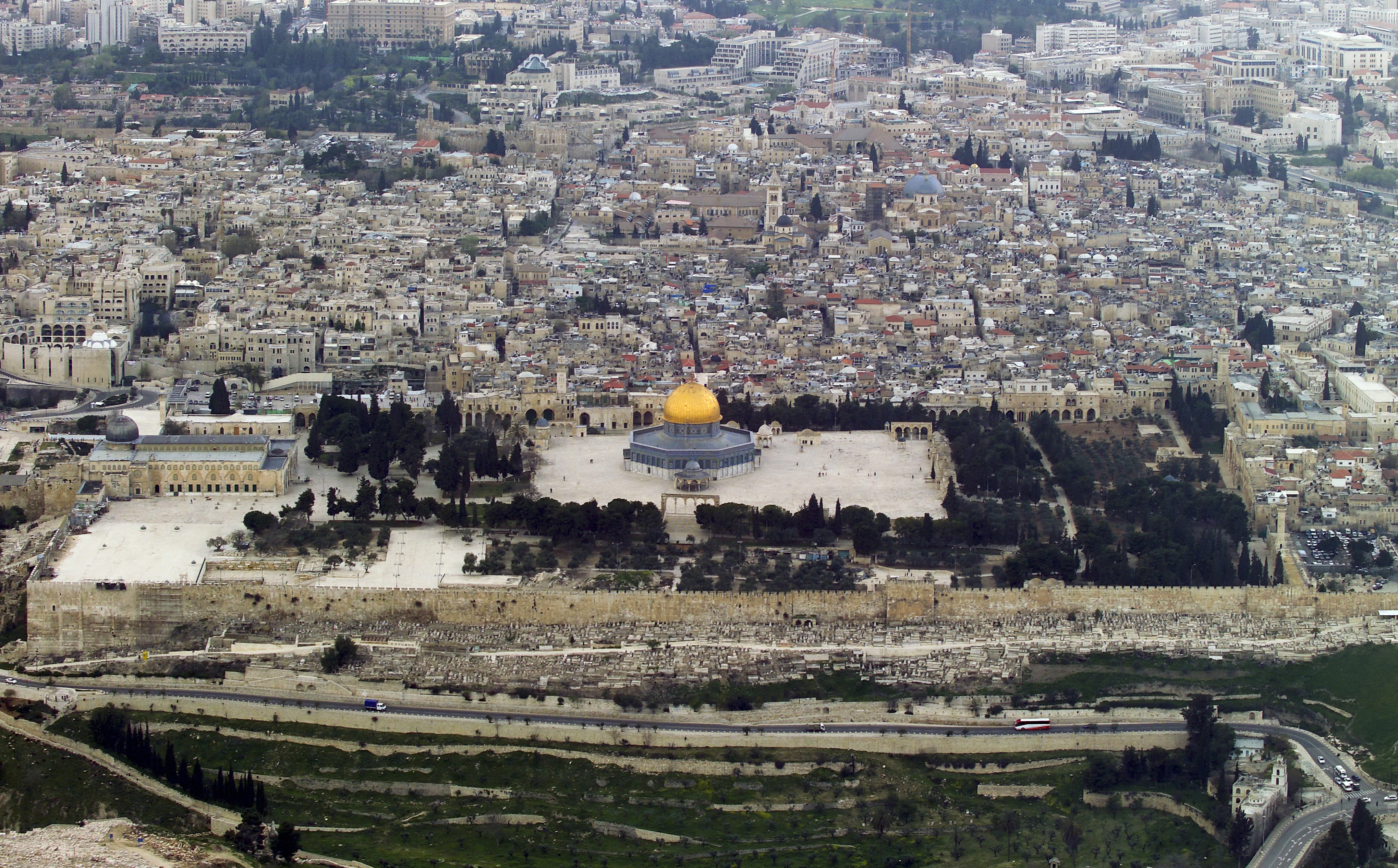 File Temple Mount Aerial View 2007 07 Jpg Wikimedia