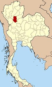 スコータイ県の位置