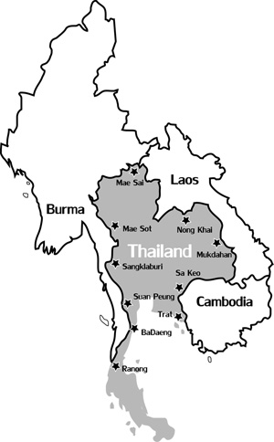 Thailand Map Coloring Page