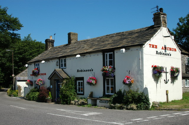 The Anchor at Lane Head, Tideswell - geograph.org.uk - 768212