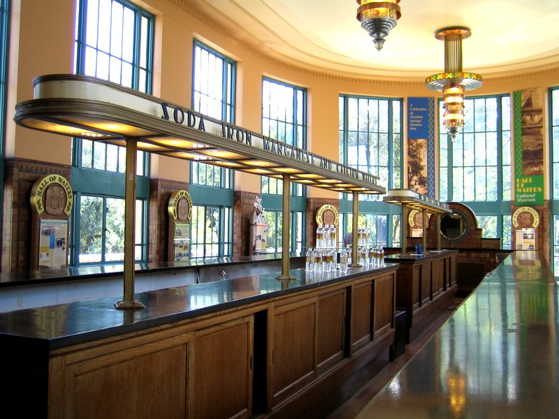 The water bar in the Hall of Waters